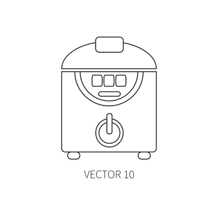 double boiler: Line flat vector kitchenware icons - double boiler. Cutlery tools. Cartoon style. Illustration and element for your design. Equipment for food preparation. Kitchen. Household. Cooking. Cook. Steamer.