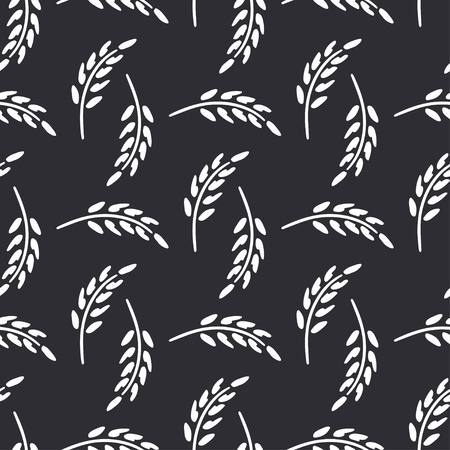 Wildflowers, spikelet victorian rural vector seamless pattern. Simplified retro illustration. Wrapping, scrapbook paper background.Childish style rural field. Element design, wallpaper fabric printing