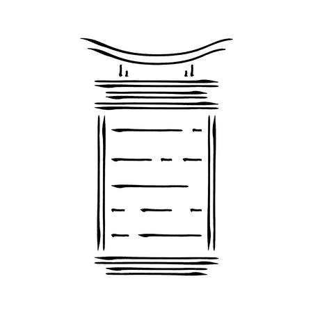 Japan landmark - temple, shrine, castle, pagoda, gate lamp vector illustration simplified travel icon. Chinese, asian traditional paper lantern. Ink brush style. Realistic element design, fabric print