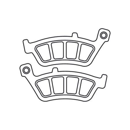 Line vector icon auto moto parts accessories brake cylinder. Repair service equipment. Engine elements shop catalog. Vintage vehicle symbol. Retro motorcycle mechanic. Design element for background.