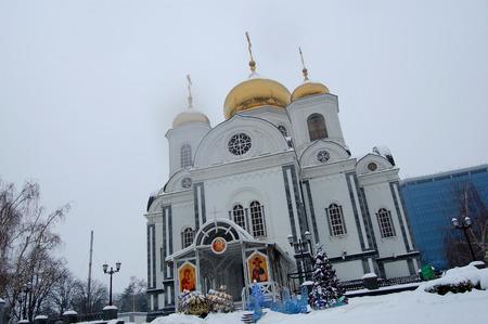 troop: Troop Alexander Nevsky church Stock Photo