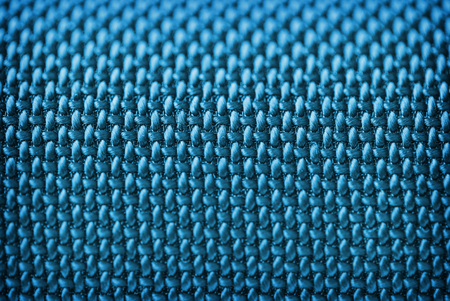 corduroy: Audio speakers blue cover - macro shot for background