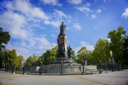 krasnodar: Krasnodar, Russia - September 30: Monument to Ekaterine the Great, gave the land and founded the Cossacks Krasnodar on September 24, 2016 Editorial