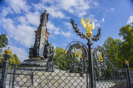 empress: Krasnodar, Russia - September 30: Monument to Ekaterine the Great, gave the land and founded the Cossacks Krasnodar on September 24, 2016 Editorial