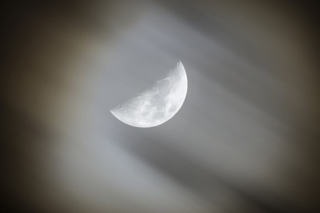 nightly: Nightly sky with moon and clouds