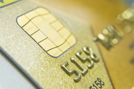 Low key macro shot with new credit card