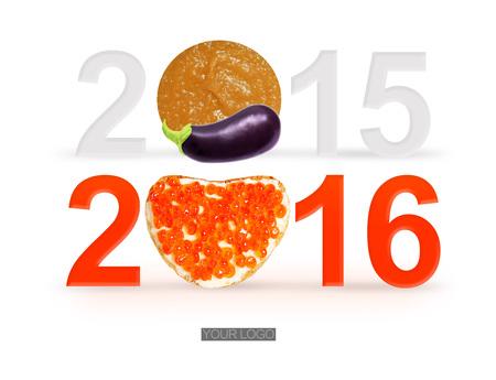 bright idea: 2016 Happy New Year Greeting Card Design - Bright idea
