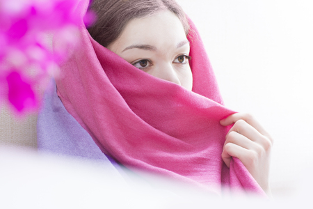 purdah: Spring background illustration for the web site banner