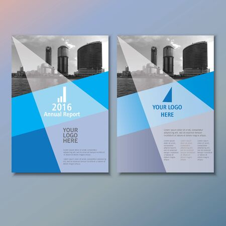 brochure cover design: Blue annual report Leaflet Brochure template A4 size design, book cover layout design, Abstract blue presentation templates Illustration