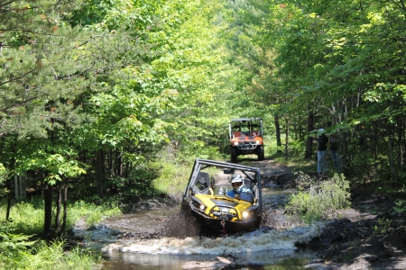UTV in deep mud