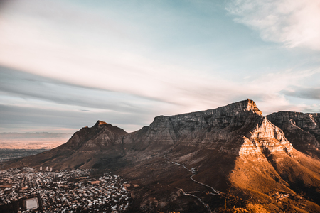 Table Mountain and Devil's Peak in Cape Town