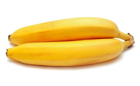 Bananas on a white background photo