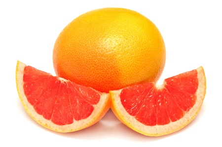 Grapefruit isolated on white background photo