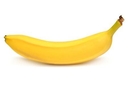白い背景に対して 1 つのバナナ 写真素材