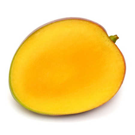 白い背景で隔離のマンゴー フルーツ