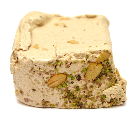 confect: Halva isolated on a white background Stock Photo