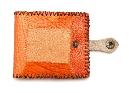 Fashion leather wallet isolated on white background photo