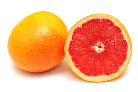 Grapefruit isolated on white background photo