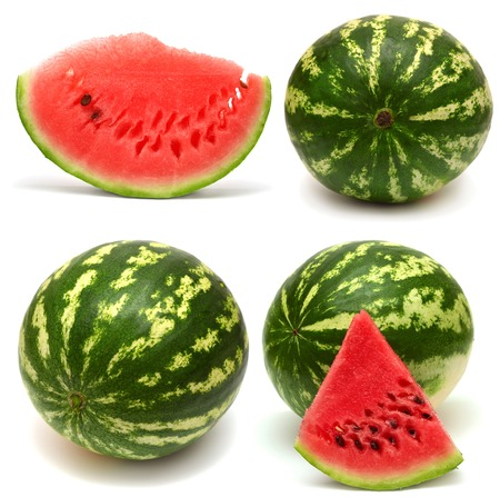 Collection of watermelon isolated on white background photo