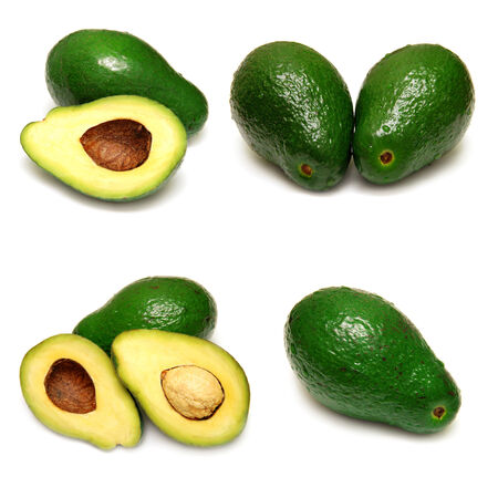 Avocado collection isolated on a white background photo