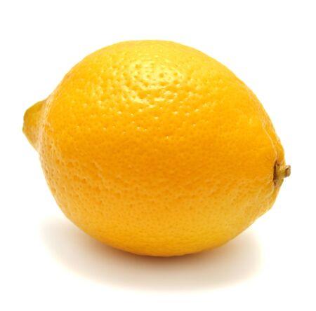 lemon slice: Lemon isolated on white background Stock Photo