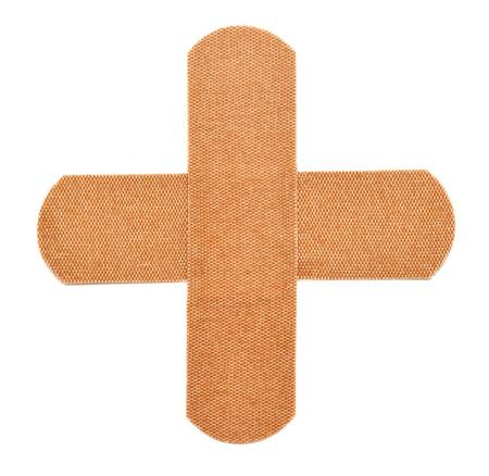 白い背景で隔離用接着剤石膏
