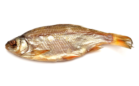 dry fish: Dry fish isolated on white background