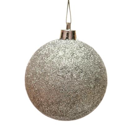 白い背景に分離されたクリスマス ボール