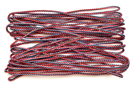 unwound: Color rope isolated on white background Stock Photo