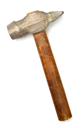 Iron hammer isolated on white background