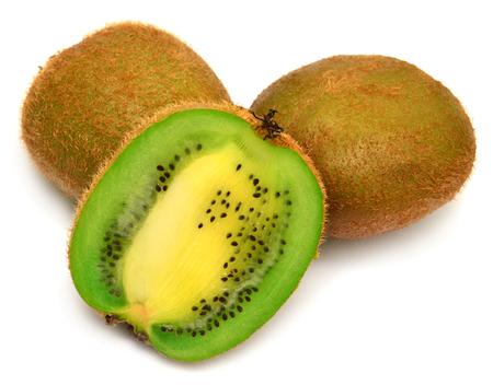 Sliced kiwi isolated on white background Zdjęcie Seryjne