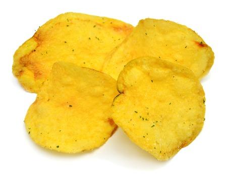 Potato chips isolated on white background Zdjęcie Seryjne