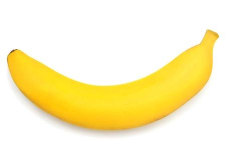 Single banana against white background Zdjęcie Seryjne