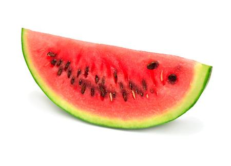 Slice of watermelon isolated on white background Zdjęcie Seryjne