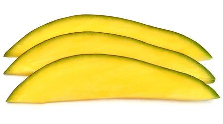 A piece of mango isolated on white background Zdjęcie Seryjne
