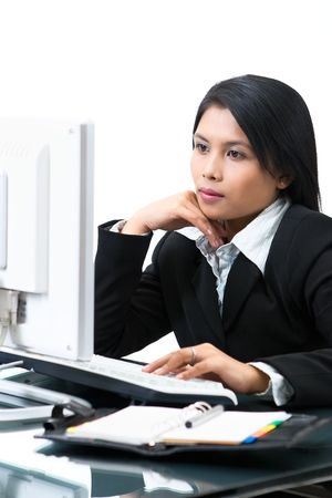 A business woman in elegance style while working. Stock Photo - 3658869