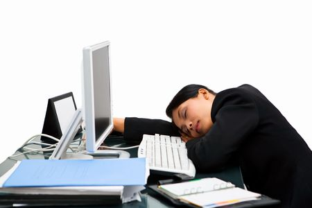 irresponsible: Tired and sleeping at workhour, very irresponsible action