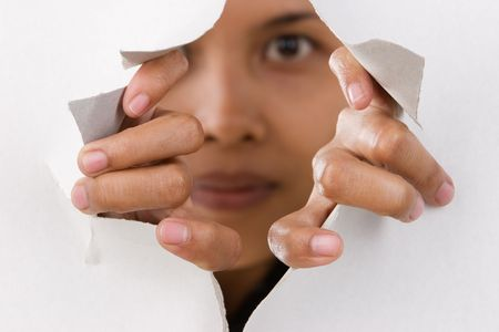 feministische: Richt zich voornamelijk op de vingers proberen breken de dunne wand.