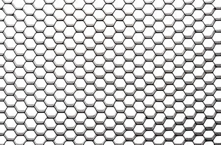 iluminate: Using a honeycomb against white background, set the lighting to diagonally iluminate from the upper left so the right bottom is the darkest area. Can be use as background for design. Stock Photo