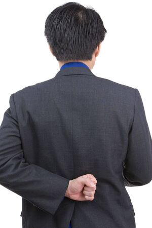 A business man hid one of his hand behind Stock Photo - 3802662