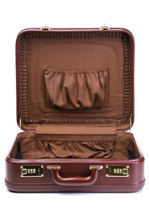 open suitcase: An opened suitcase and left it empty.