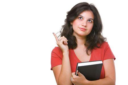 A female student found idea Stock Photo - 4965061