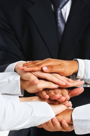 People put their hand on top of each other Stock Photo - 5557634