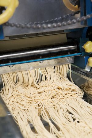 Noodle machine that cut the dough into noodle size Stock Photo - 7284133