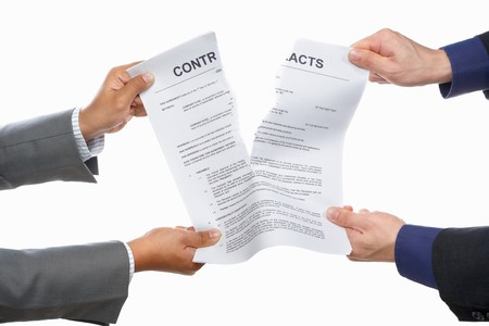 Two business people fight over contracts, shot against white background Stock Photo - 7284022