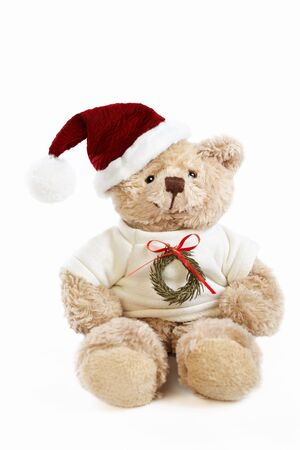 Christmas teddy bear doll photo