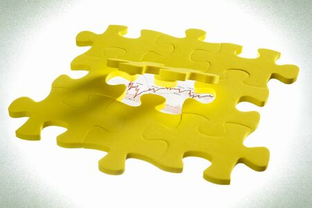 vignetting: Concept photo with jigzaw puzzle, vignetting on corners