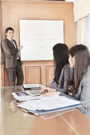 Businessman doing presentation in the office Stock Photo - 12751263