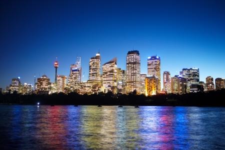 Sydney CBD area taken at nite from the harbour side Standard-Bild