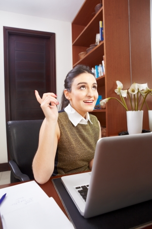 young woman working in the office alone Stock Photo - 17335426